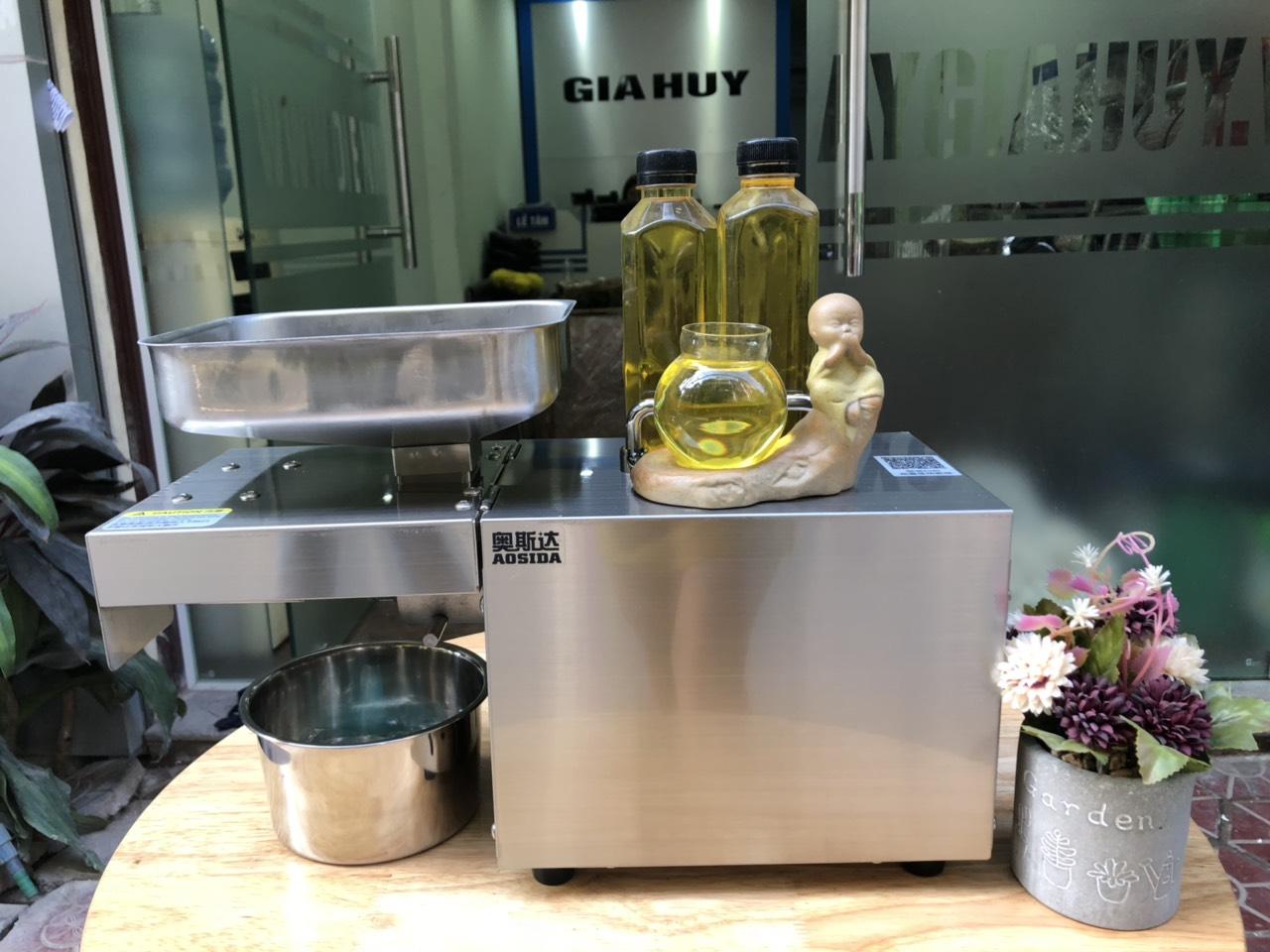Máy ép dầu, ép dầu thực vật, kiệt dầu đến 98%, cho dầu nguyên chất rất thơm ngon