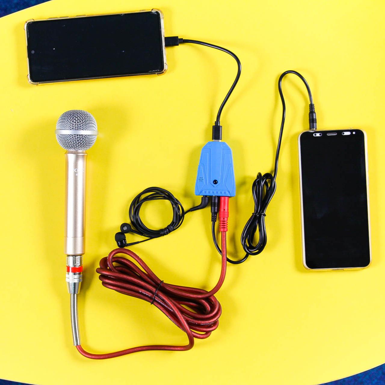Sound card di động XOX K1 siêu nhỏ 29 hiệu ứng cho phát livestream ngoài trời, hát Youtube TikTok - Hàng chính hãng