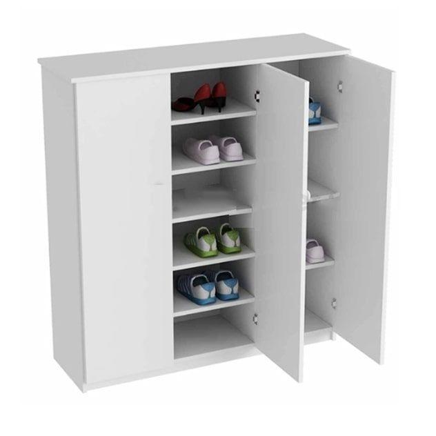 Tủ giày Jang Mi 01 106 x 96 x 36 cm (Trắng)