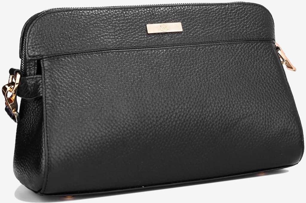 Túi Xách Nữ Có Quai Đeo Da Bò Cao Cấp Màu Đen WT Leather 0843.2