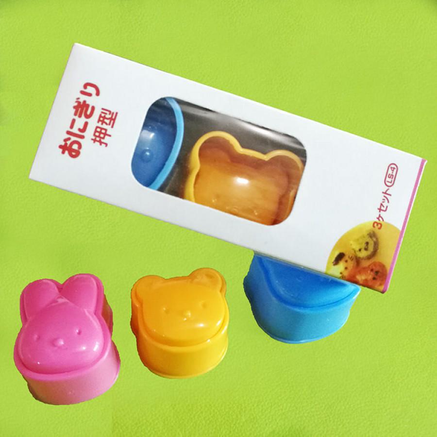 Bộ khuôn tạo hình cơm dễ thương mặt gấu thỏ mèo cho bé GD0008
