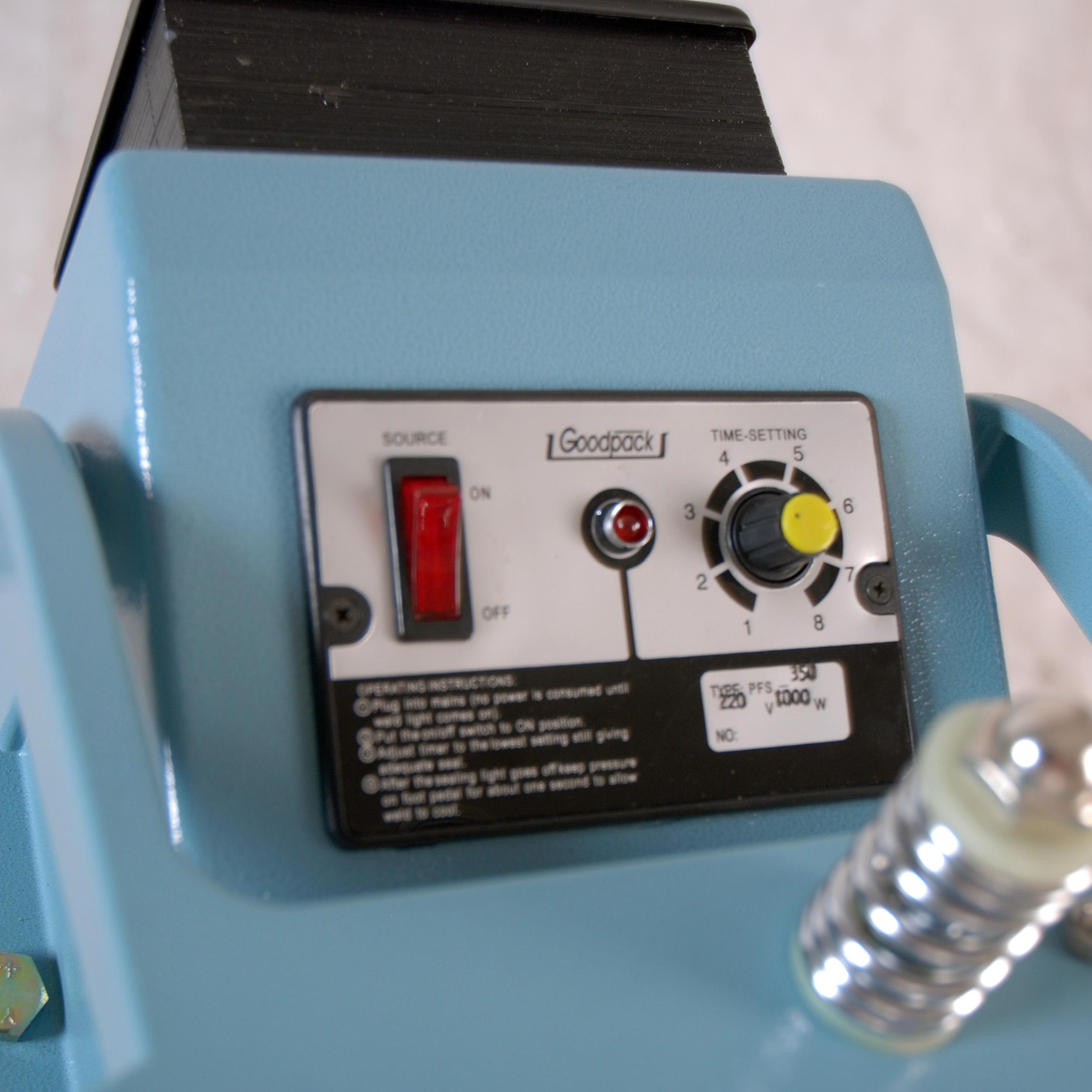 Máy hàn miệng túi dập chân có giá đỡ PFS-450, hàn miệng túi dạng nhiệt phù hợp cho bánh kẹo, thực phẩm, tặng kèm dây hàn nhiệt, PFS-450
