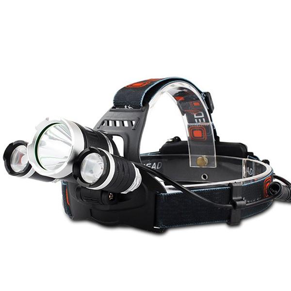 Đèn pin 3 bóng đeo đầu tiện lợi- dây chắc chắn- ánh sáng trắng rõ nét