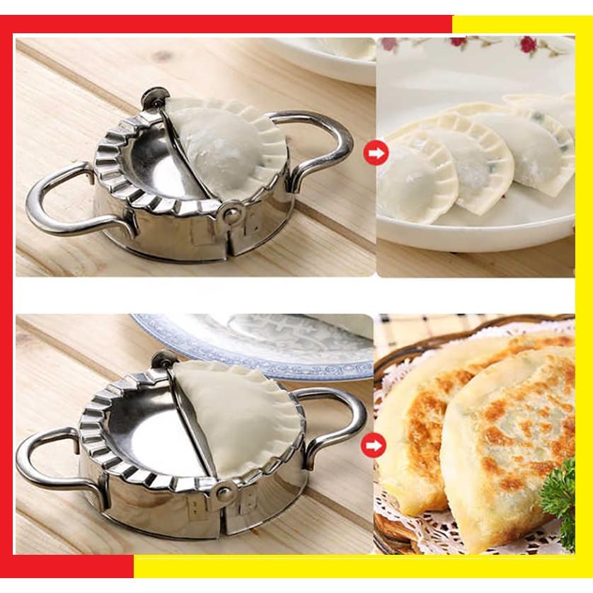 Dụng Cụ Khuôn Inox 304 Làm bánh Xếp,Bánh bột lọc,Sùi cảo Kích thước 9,5 cm bằng Inox 304 không gỉ Cao cấp ( Tặng kèm 1 khuân trứng ngẫu nhiên ) - Khuôn làm bánh Xếp,Há Cảo Loại To