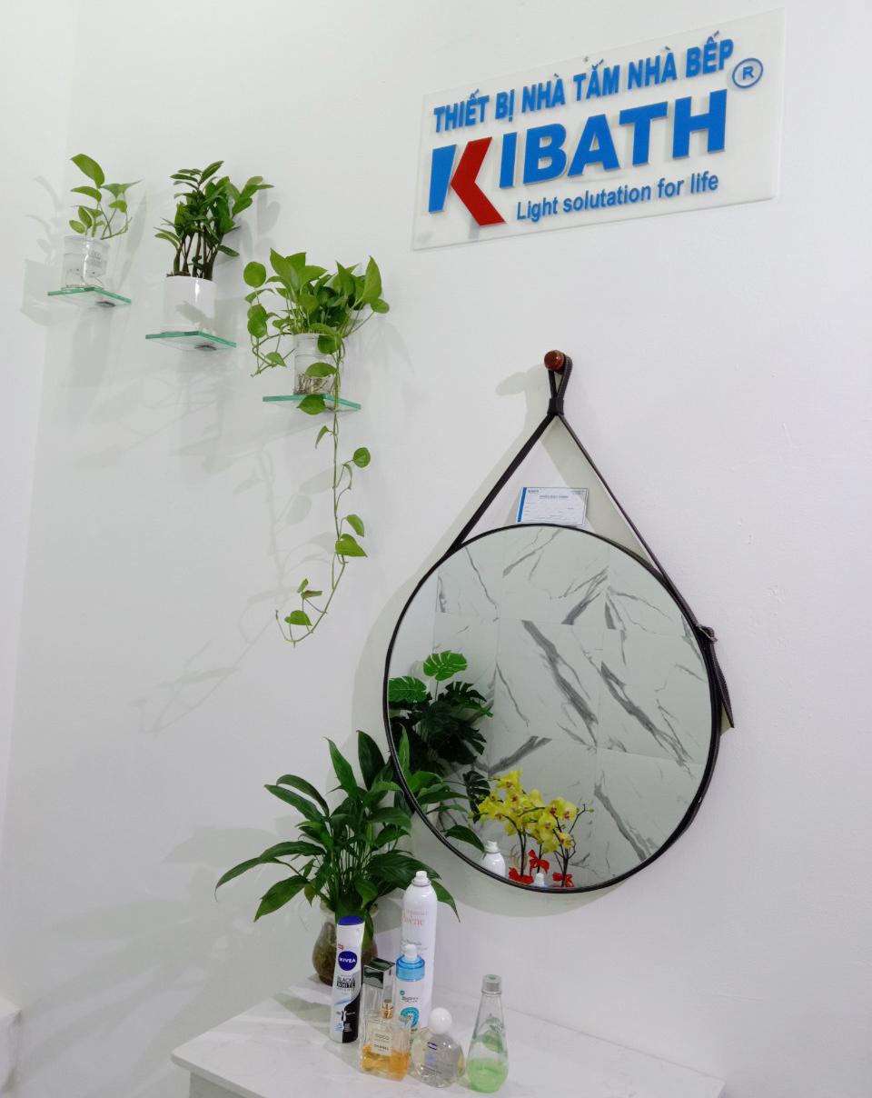 Gương Tròn Dây Da Kibath Cho Phòng Trang Điểm Phòng Ngủ