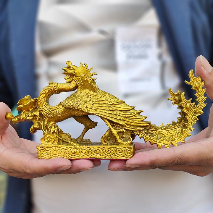 Tượng linh vật phượng hoàng bằng đồng thau phong thủy Tâm Thành Phát