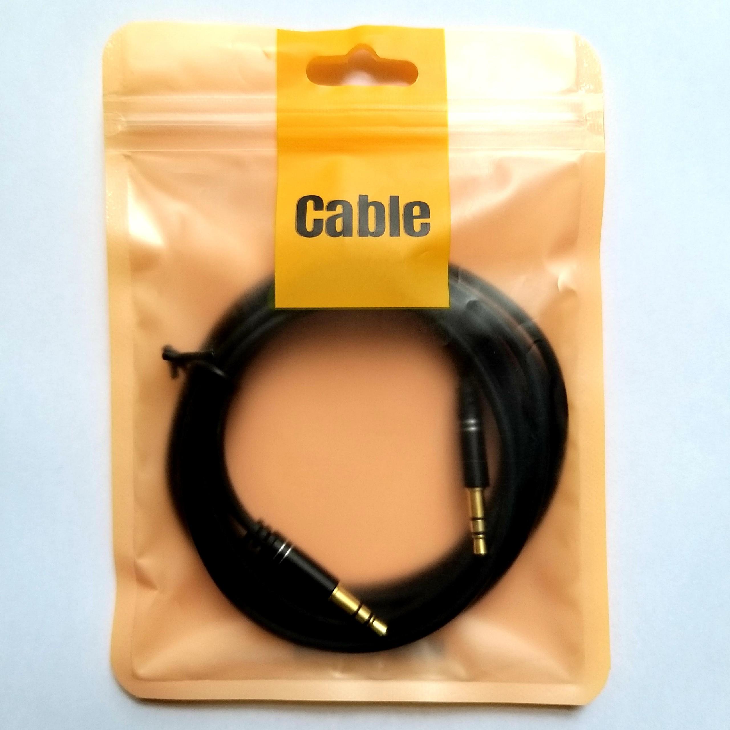 Dây cáp audio ( cap kết nối âm thanh) 3.5-3.5mm dài 2m ( Phát nhạc, thu ấm từ các thiết bị hỗ trợ cổng 3.5mm)