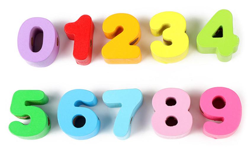 Đồ chơi luồn hạt - Bộ thế giới xung quanh & bộ số + chữ 105 chi tiết ( Từ 1-3 tuổi)