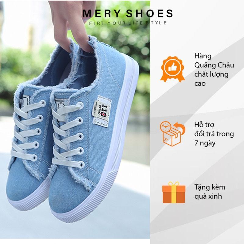 Giày Bata Nữ Vải Đế Mềm Phong Cách Học Sinh Hàn Quốc Mery Shoes - MBS 137