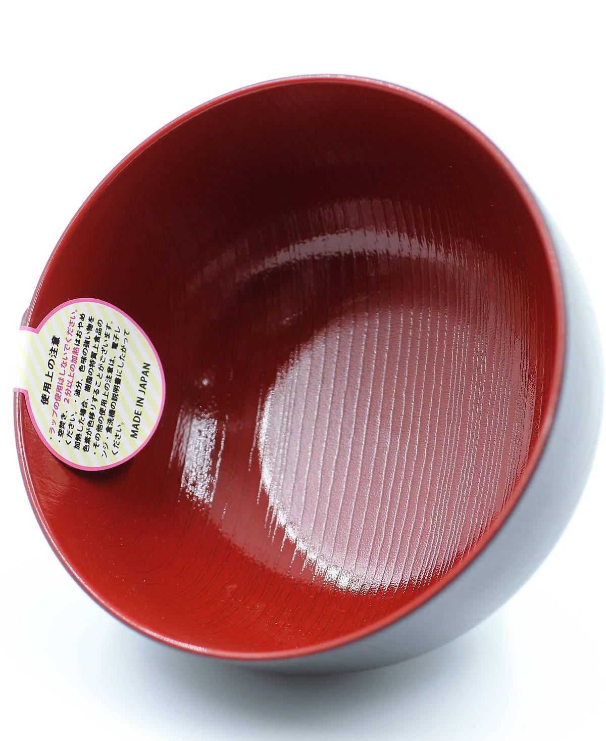 Combo Bát nhựa sơn mài màu đen (cỡ to) nội địa Nhật Bản