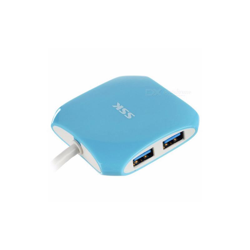 Hub chia cổng USB 3.0 SSK SHU300 từ 1 ra 4 cổng (Xanh) HÀNG NHẬP KHẨU