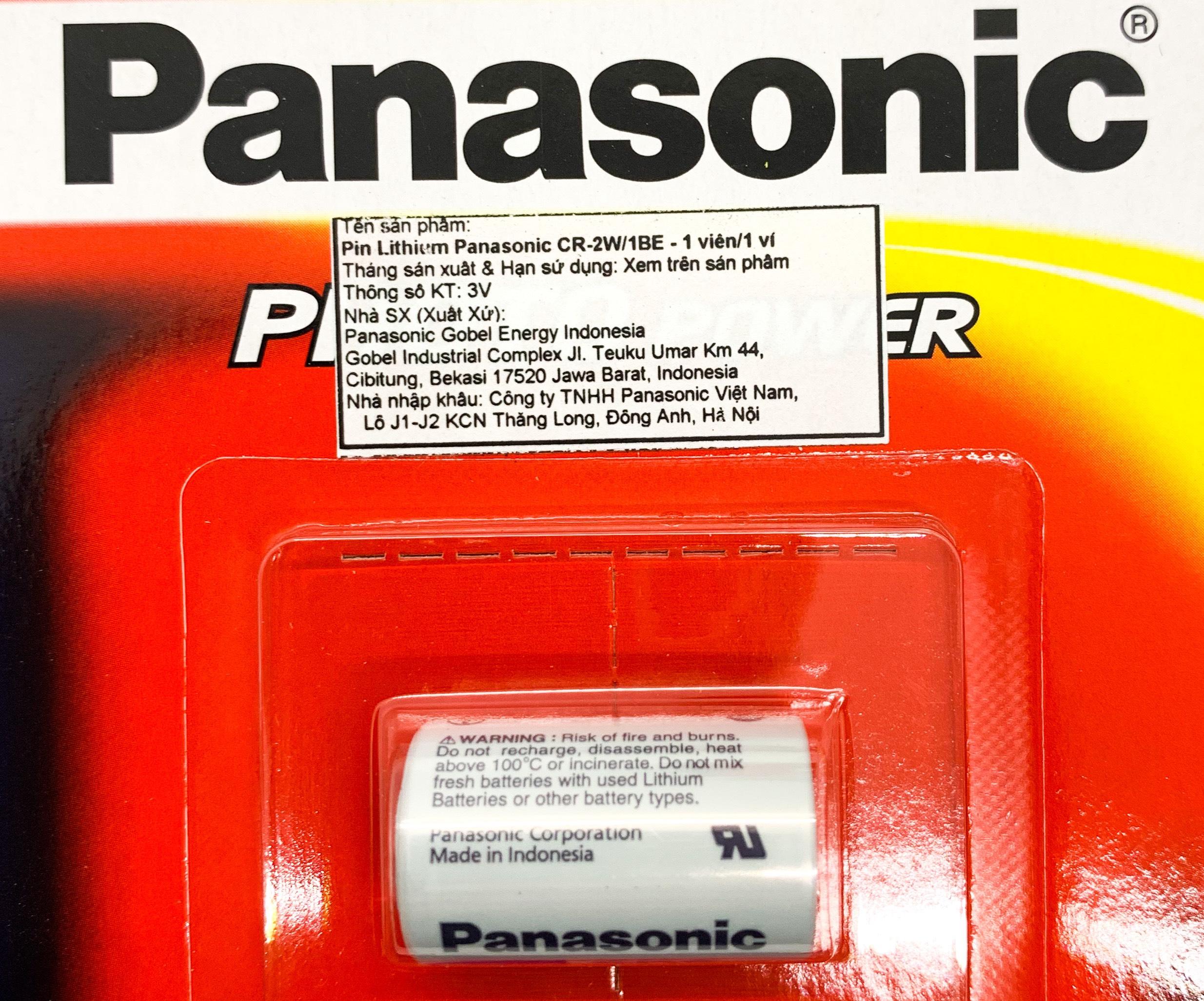 Pin CR2 ( Pin Panasonic CR-2W ) 3V Lithium 2 Viên - Hàng Chính Hãng