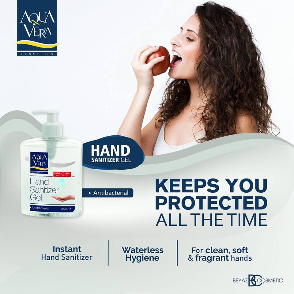 Gel rửa tay khô diệt khuẩn Aquavera Thổ Nhĩ Kỳ 500ml