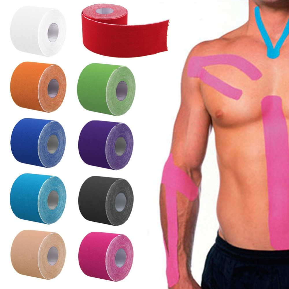 Băng dán cơ thể thao Belo chống chấn thương đàn hồi 5cm x 5m - giao màu ngẫu nhiên