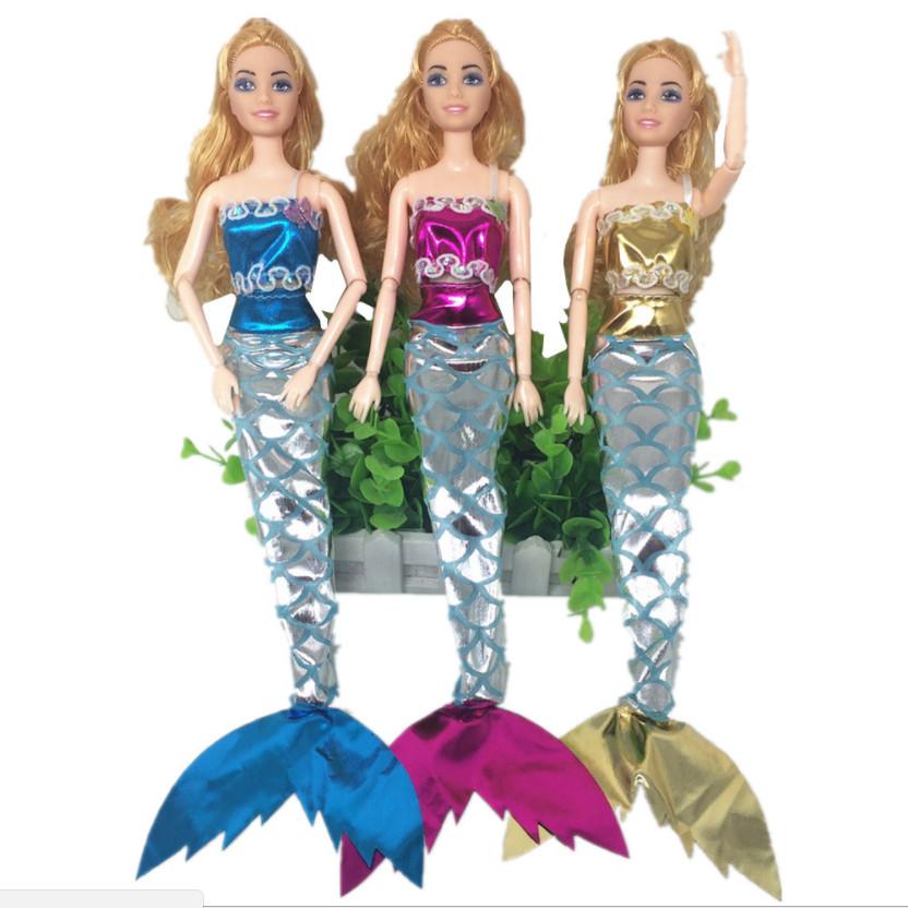 Set 3 váy đuôi cá cho búp bê - Giao màu ngẫu nhiên