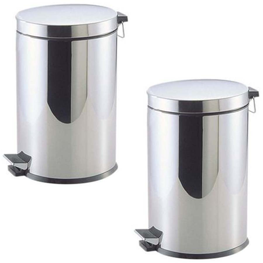 Bộ 3 thùng rác đạp chân cao cấp chống rỉ 5L - Hàng nội địa Nhật
