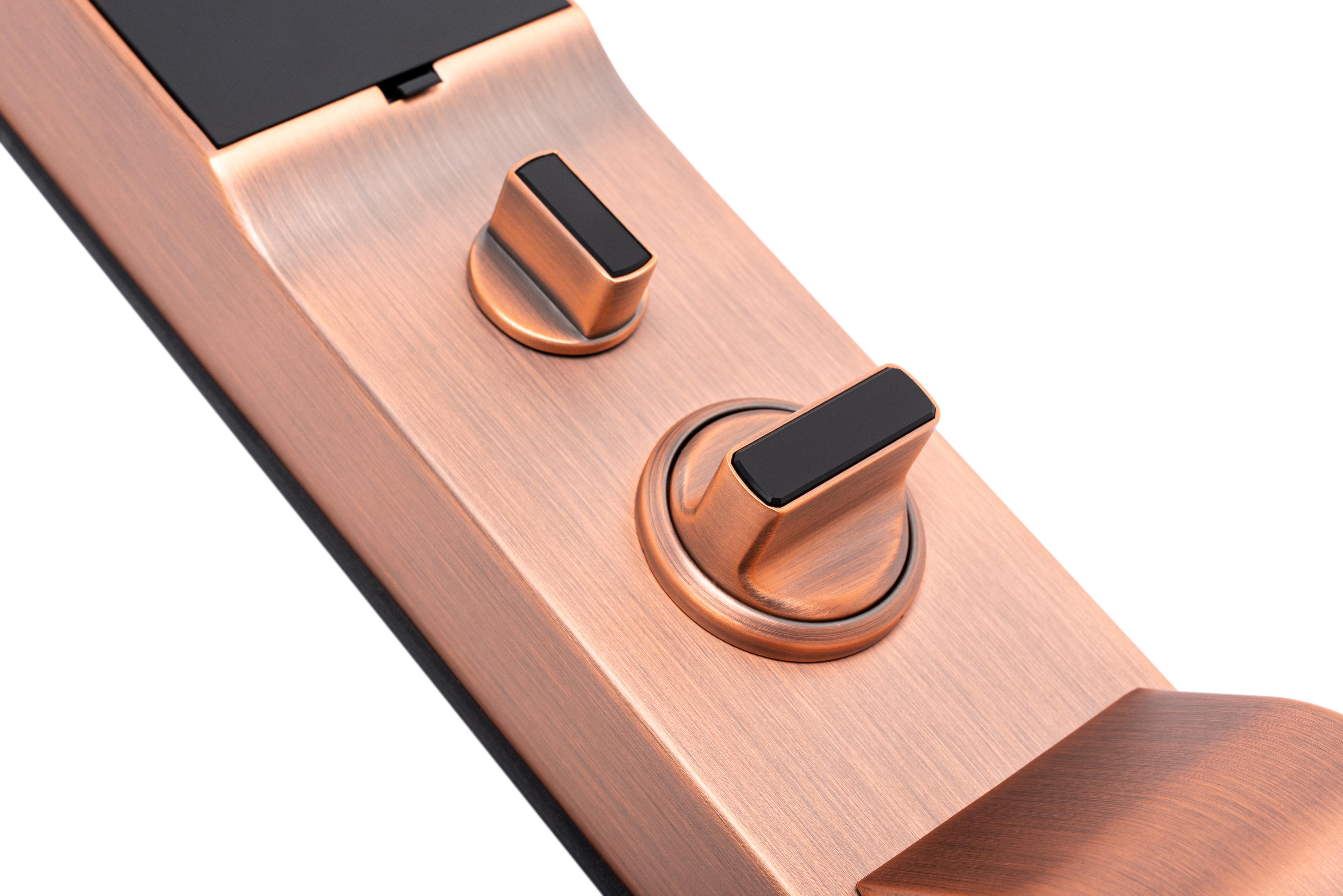 Khóa điện tử, vân tay Makoto dòng khóa Shogun A - màu đồng
