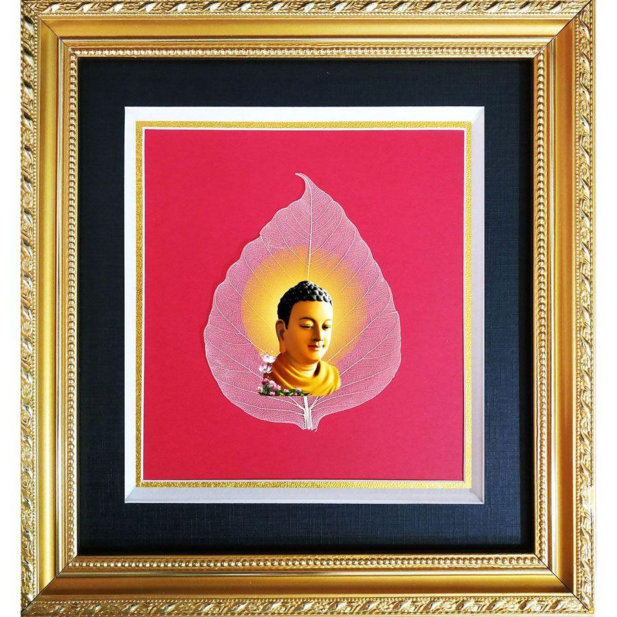 Tranh Lá Bồ Đề Hình Phật HPB-2478