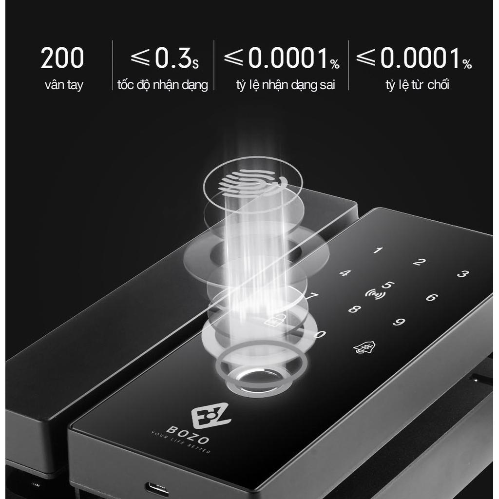 BOZO SN319 - Khoá vân tay chuyên dụng dành cho cửa kính