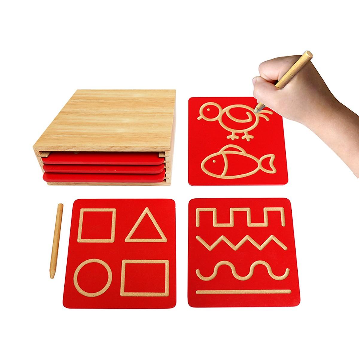 Bộ Luyện Nét Cơ Bản 1 Mk - Đồ chơi gỗ
