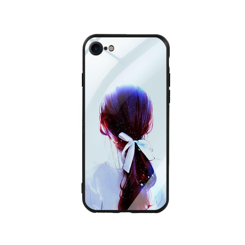Ốp Lưng Kính Cường Lực cho điện thoại Iphone 7  8 - Girl