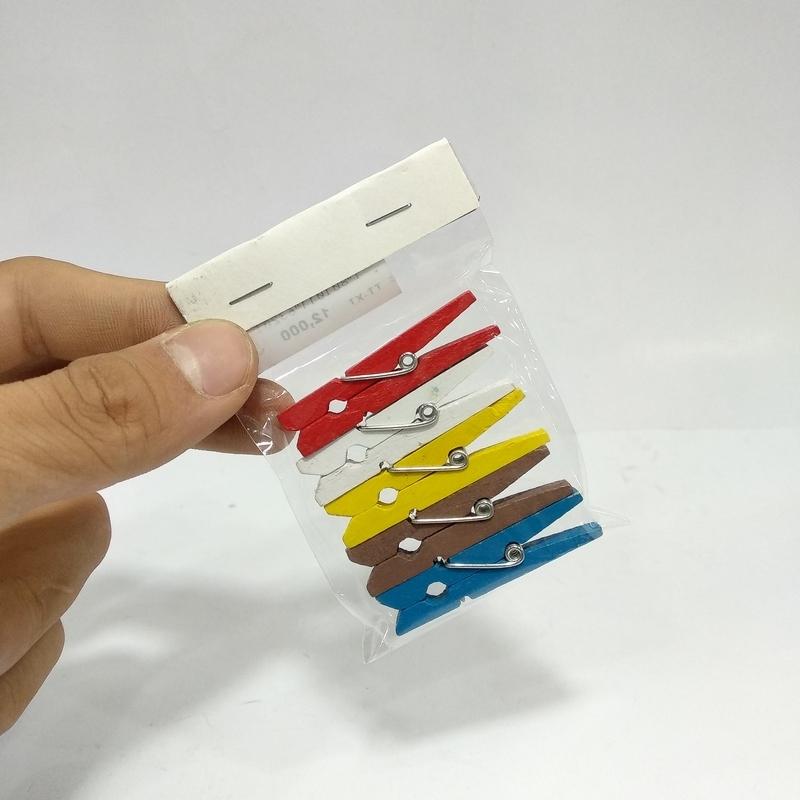 Kẹp Gỗ Trung - Mẫu 1 - Kẹp Gỗ Màu