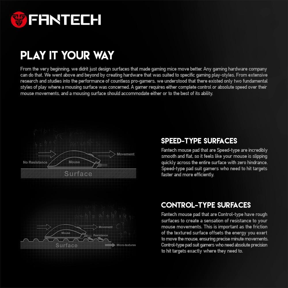 Đế lót di chuột FANTECH MP292 - MP452 - MP902 tốc độ cao nhiều kích cỡ khác nhau dùng cho chuột, bàn phím - hàng chính hãng