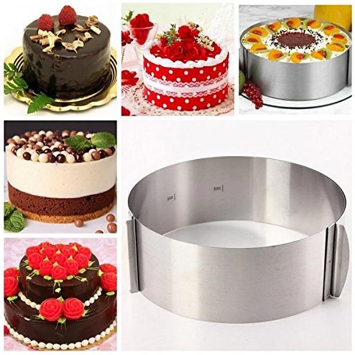 Khuôn Tròn Thay Đổi Kích Thước/ Mousse Ring/ Cheesecake