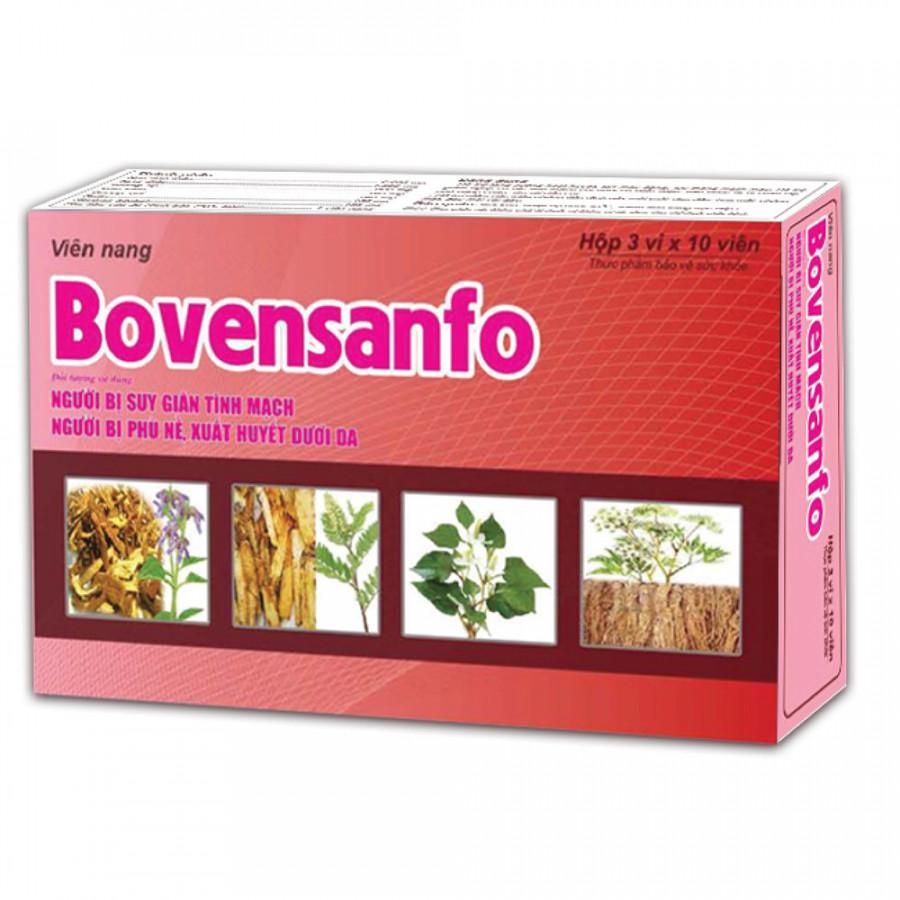 Thực phẩm chức năng Bovensanfo - Cho người bị suy giãn tĩnh mạch