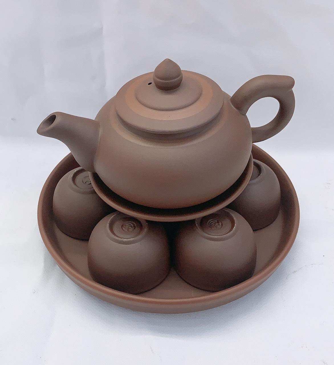 Bộ ấm chén pha trà khèm khay sứ pha trà truyền thống - ANTH688