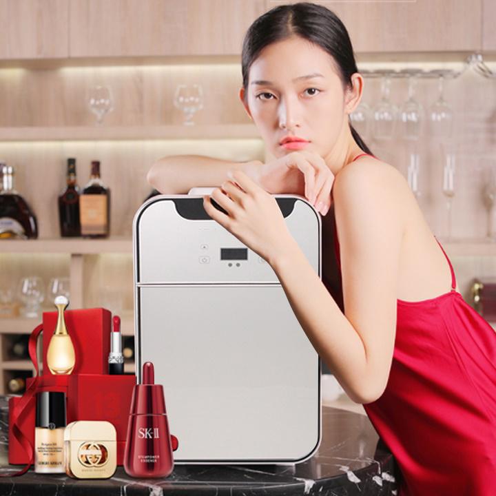 Tủ lạnh mini dung tích 20 lít hiển thị nhiệt độ bảng điển tử 2 cánh hàng chính hãng