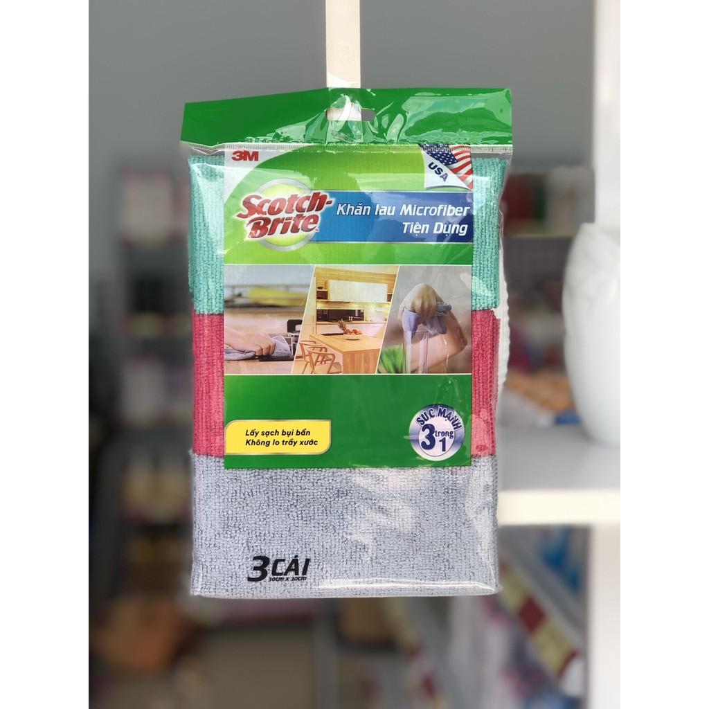 Set 3 khăn lau bếp Microfiber tiện dụng 3M (30x30cm)