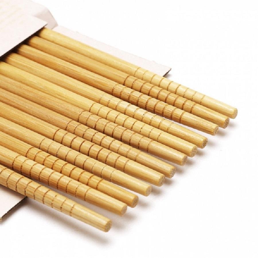 Bộ chén đũa sứ cao cấp (6 chén và 6 đũa) - Họa tiết hoa mai