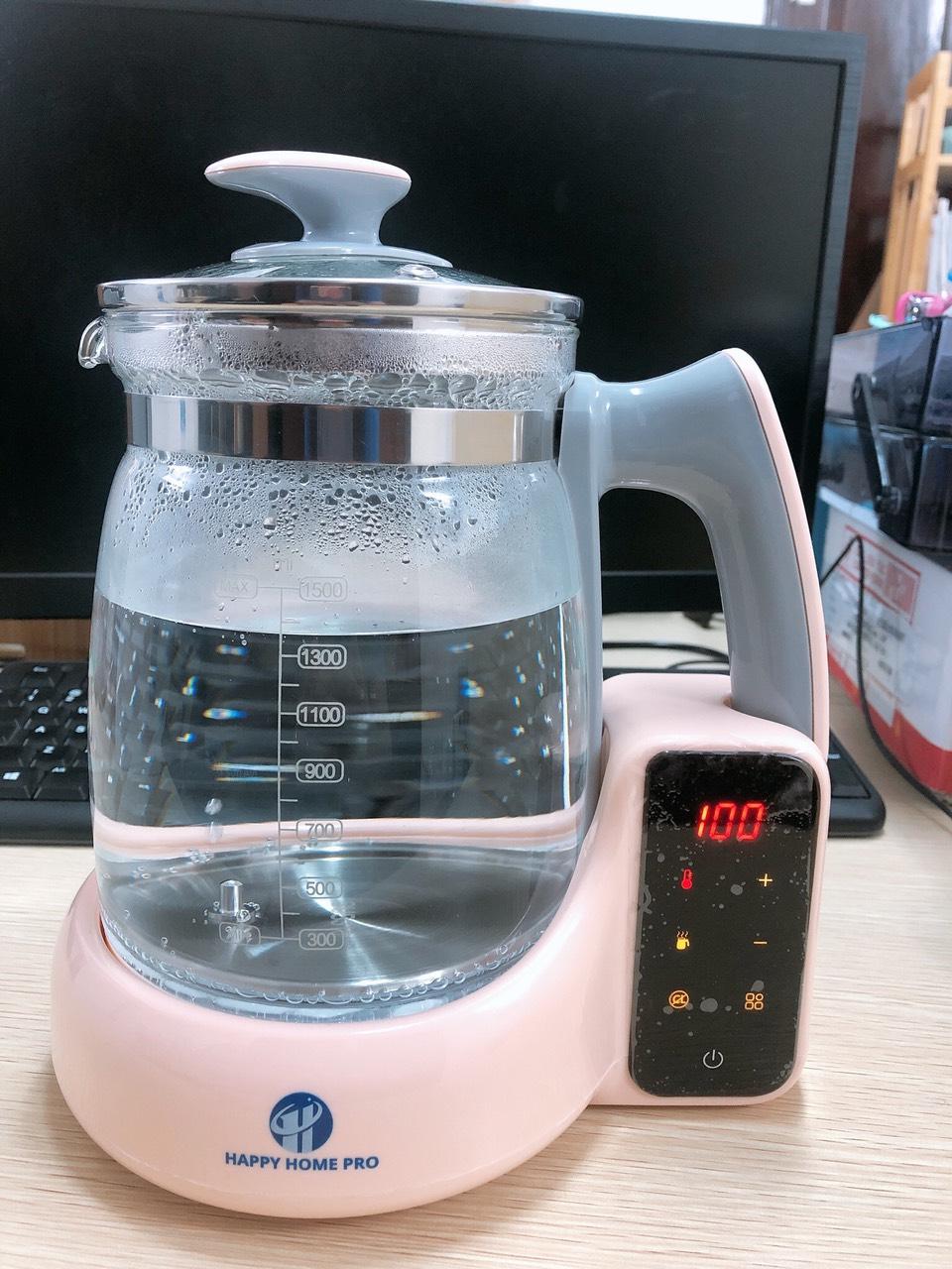 Bình Đun Nước siêu tốc Cảm Ứng Thông Minh Khử Clo - HAP20 1.5L - Nhập Korea Happy Home Pro
