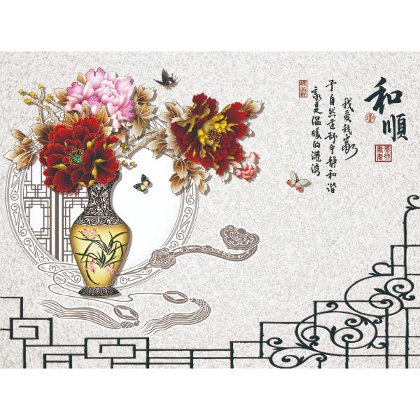 Decal Dán Tường - Tranh Bình Hoa - T3M--532-copy