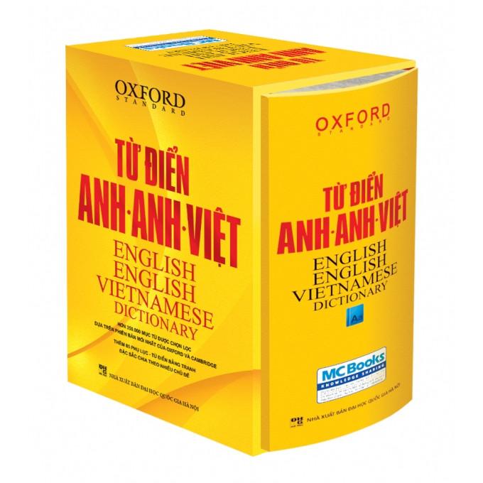 Từ Điển Oxford Anh Anh Việt 350.000 Từ hộp vàng cứng (Tăng Kèm Thẻ 360 Động Từ Bất Quy Tắc Trong Tiếng Anh)