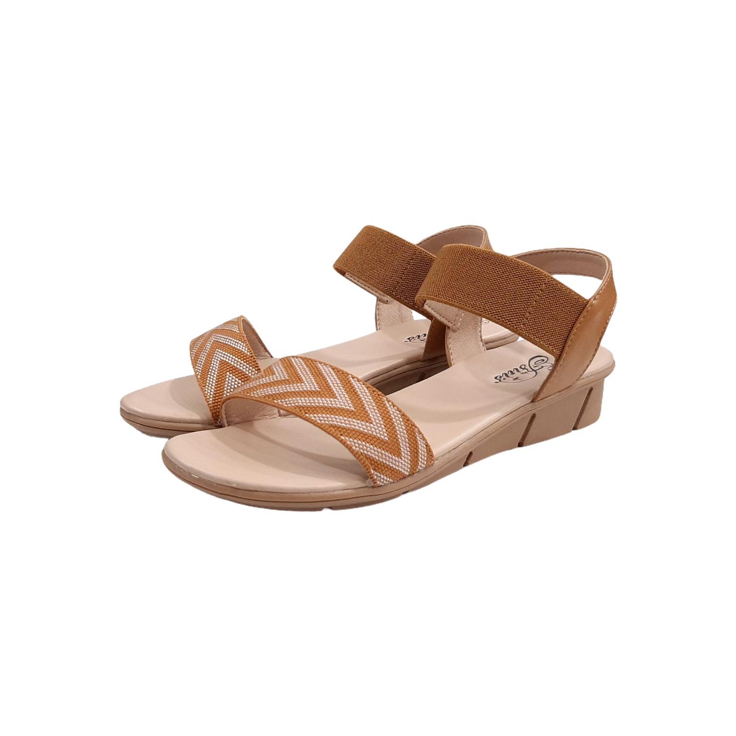 Sandal nữ Quai Đơn, Sandal nữ quai chun, Sandal đế bằng DTW009788NAU