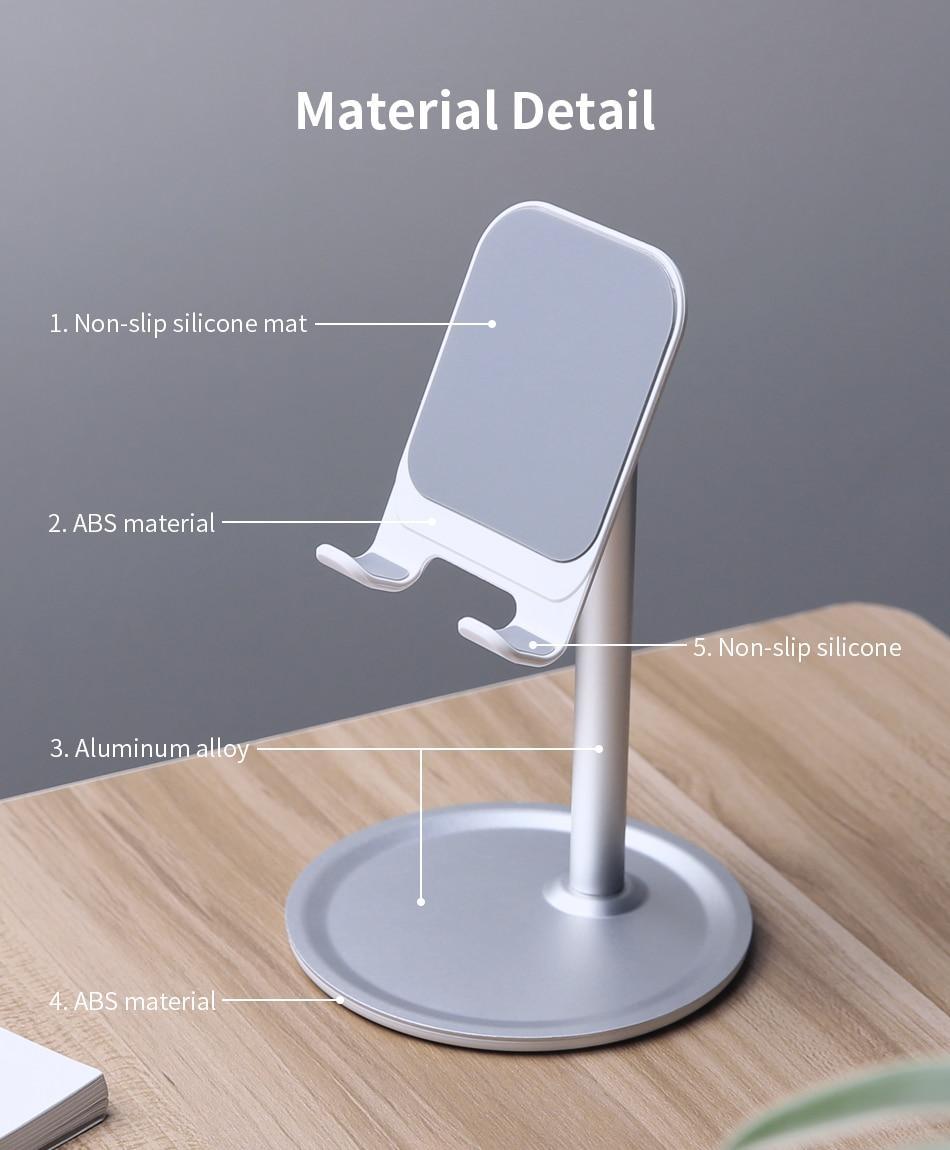 Giá Đỡ Điện Thoại Máy Tính Bảng MINI Để Bàn Xoay 360 độ có silicone chống trơn không làm trầy xước thiết bị