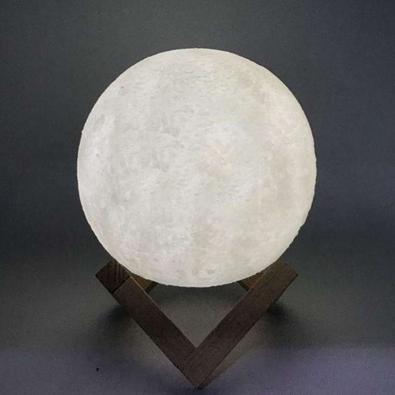 Đèn ngủ mặt trăng moon light 3D 16 màu