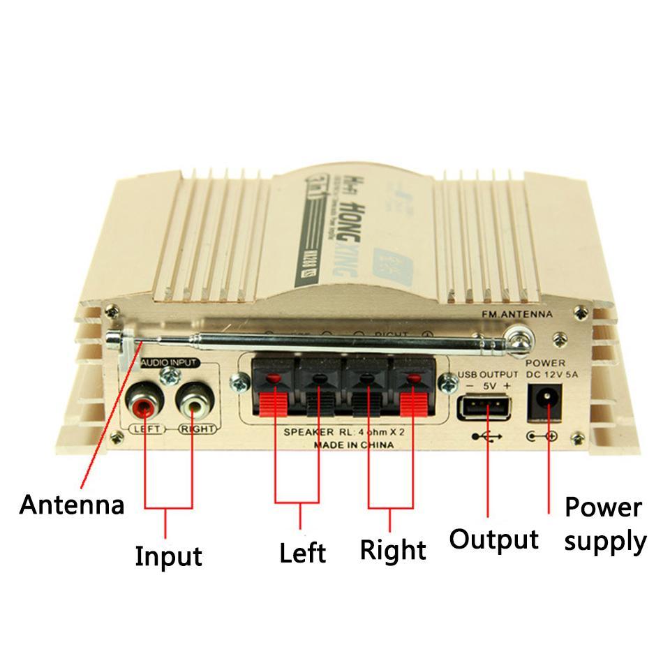 Âm ly stereo mini amply hifi thu FM HX-288AS D00-163