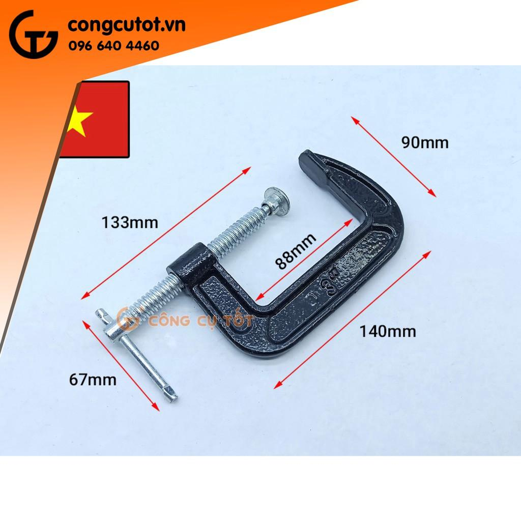 Bộ 4 Cảo chữ C Việt Nam màu đen 3 inch