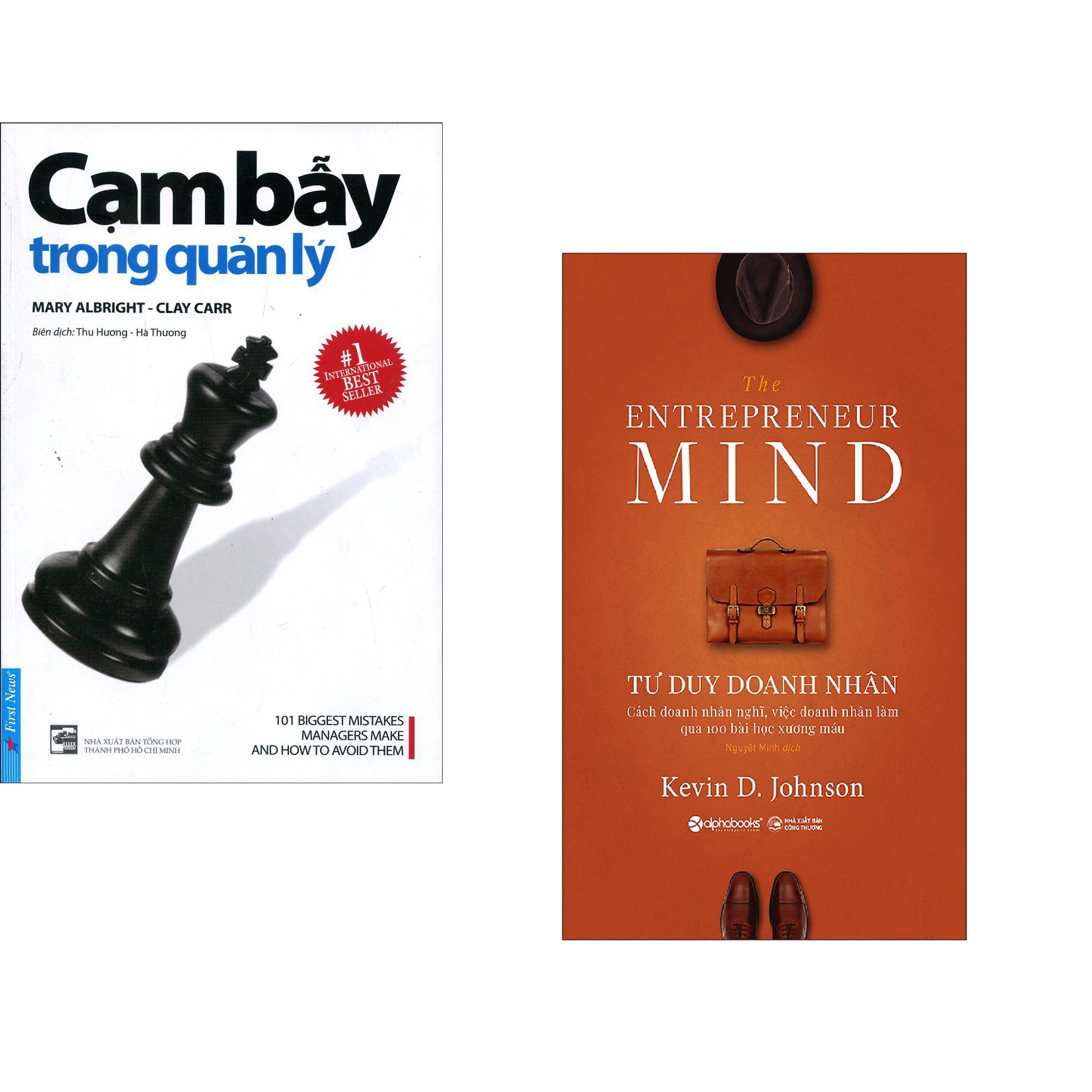Combo 2 cuốn sách: Cạm Bẫy Trong Quản Lý + Tư Duy Doanh Nhân