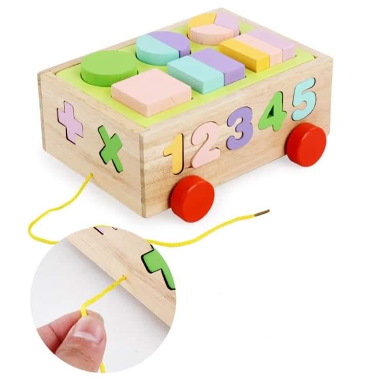 Xe kéo thả hình đa năng - đồ chơi giáo dục BK137