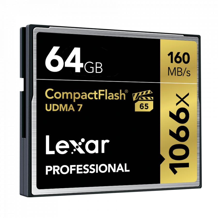 Thẻ Nhớ Lexar CF 64GB Professional 1066x  (160 Mb/s) - Hàng chính hãng