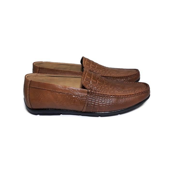 Giày Lười Nam Công Sở Da Bò Thật - SM06