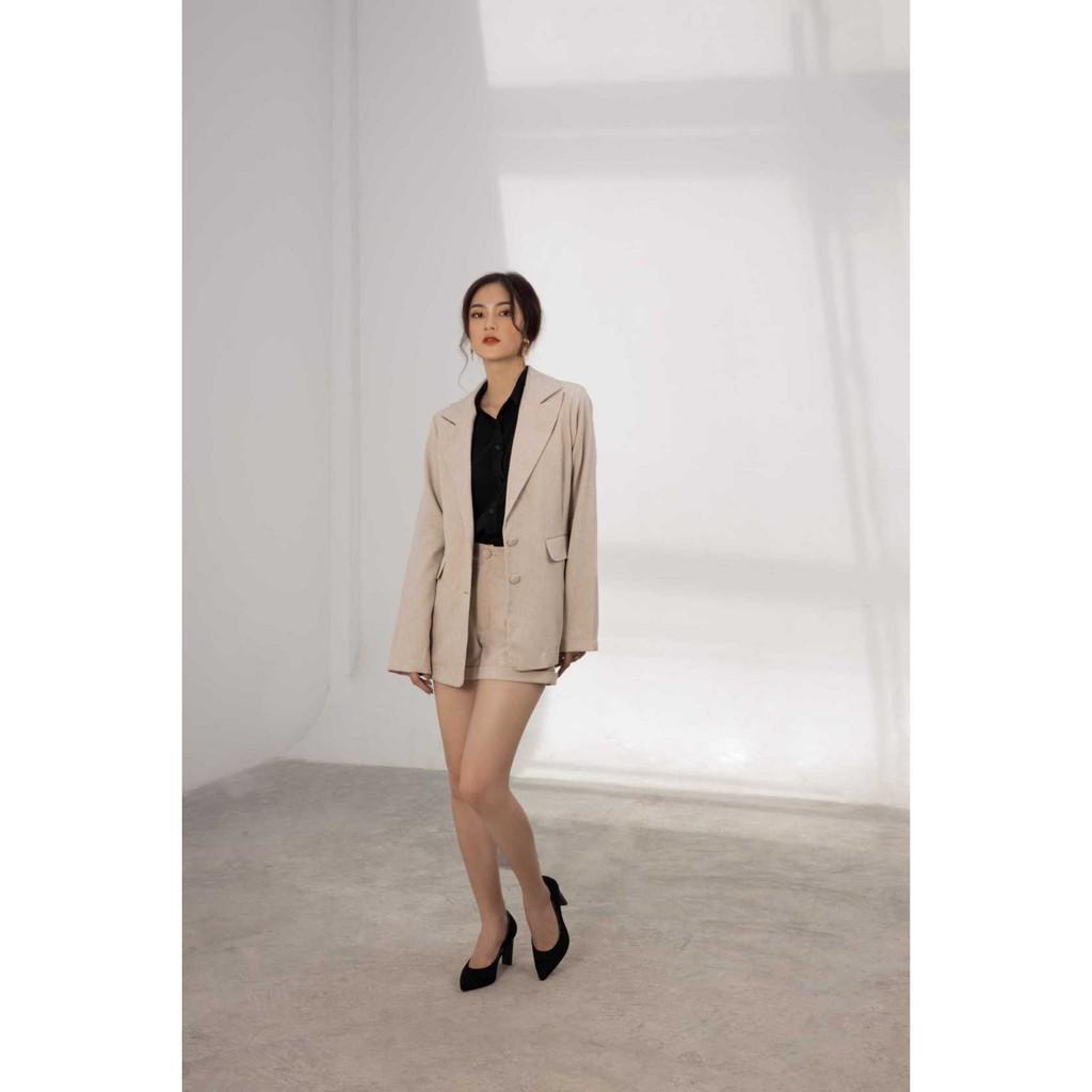 Áo blazer, áo vest công sở đi làm, đi tiệc - 3 màu Hồng/Sand/Nude