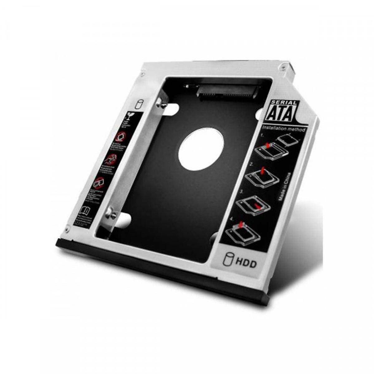 """Khay đựng ổ cứng Laptop 2,5"""" HDD, SATA, SATAII,SATAIII, SDD (Caddy Bay) Loại mỏng 9,5mm (Tặng kèm cáp OTG)"""