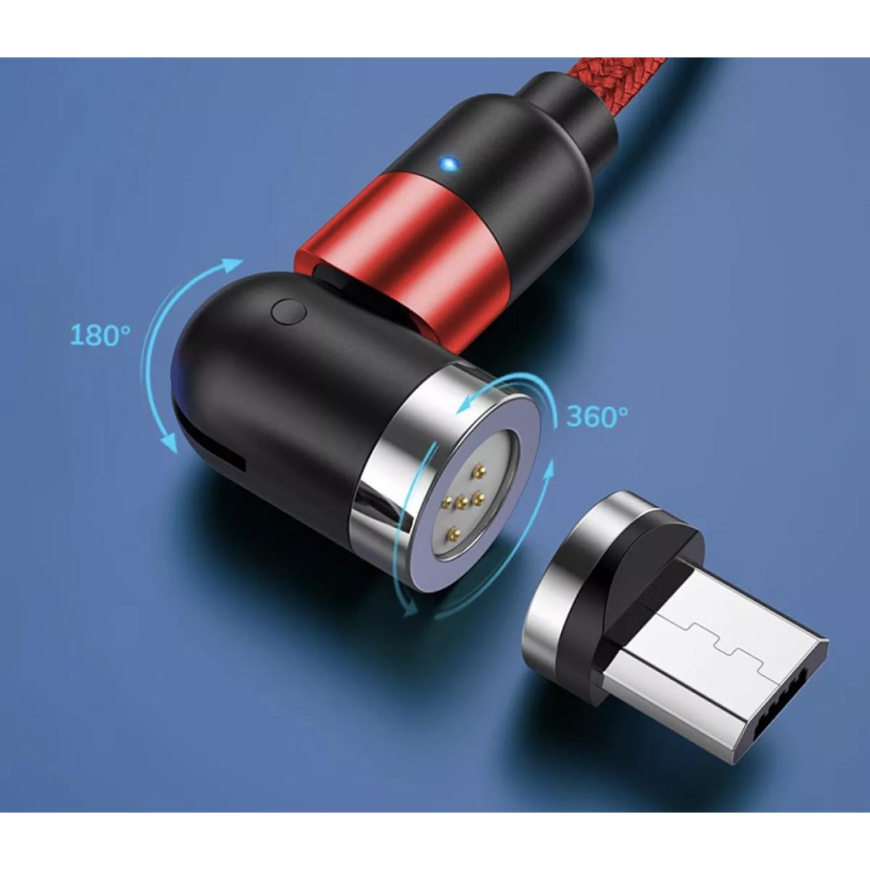 Cáp sạc từ TOPK AM66 USB to Micro Cáp Sạc Nhanh Cáp Dữ Liệu Cáp Sạc Nylon Dành Cho iPhone 11 Xiaomi HUAWEI OPPO Vivo - Hàng chính hãng