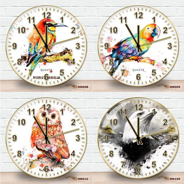 Đồng hồ treo tường quartz cao cấp kim trôi tặng kèm móc treo không cần khoan