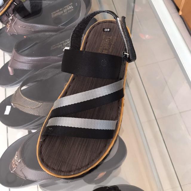 Sandal nam quai dù màu đen